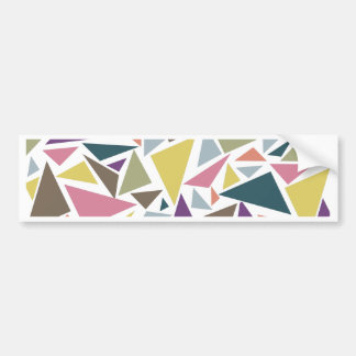 Triangle Scatter Bumper Sticker