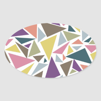Triangle Scatter Oval Sticker