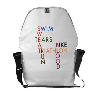 Triathlon Blood Sweat and Tears Commuter Bag