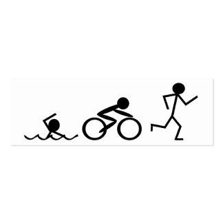 Triathlon Stick Figures Pack Of Skinny Business Cards