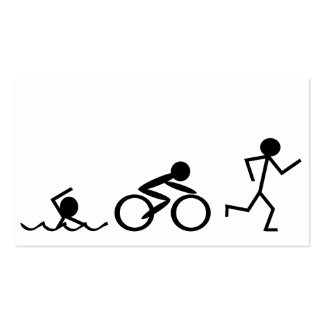 Triathlon Stick Figures Pack Of Standard Business Cards