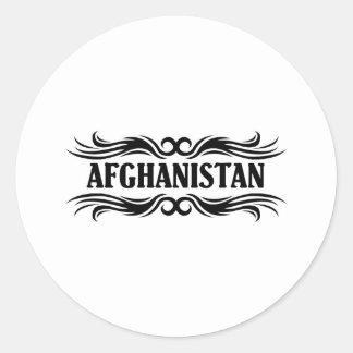 Tribal Afghanistan Round Sticker