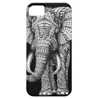 Tribal Black Elephant Barely There iPhone 5 Case