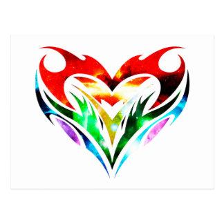 Tribal Heart Postcard