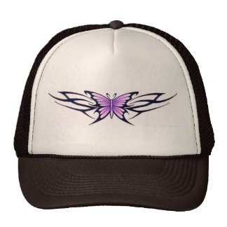 tribal tattoo-style butterfly cap