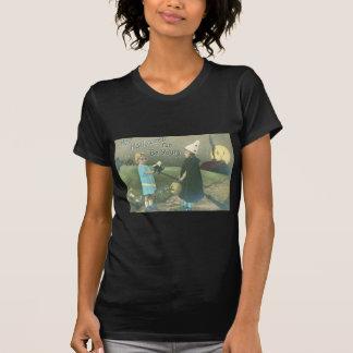 Trick Or Treat Man In The Moon Black Cat Tshirt
