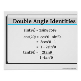 Trigonometry Poster: Double Angle Identities Poster
