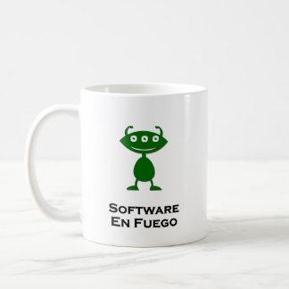 Triple Eye Software En Fuego green Basic White Mug