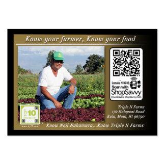 Triple N Farms Traceable Shelftalker Pack Of Chubby Business Cards