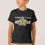 Trombone Rock Star by Night T Shirt