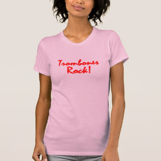 Trombones Rock - Red Lettering Shirts