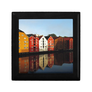 Trondheim in Norway Small Square Gift Box