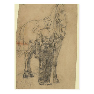 Trooper and Horse Postcard