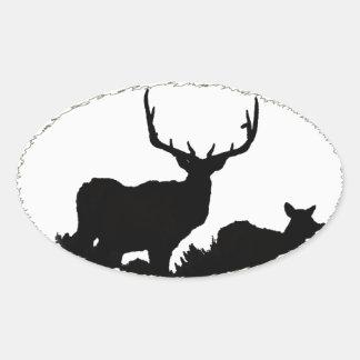 Trophy bull oval sticker