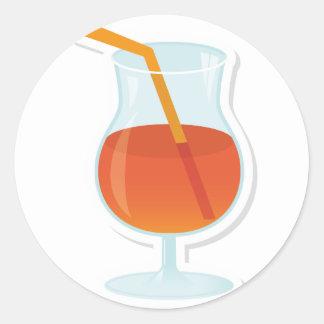 tropical Cocktail Round Sticker