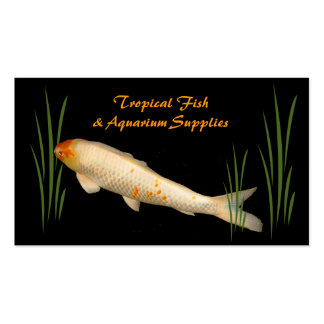 Tropical Fish and Aquarium Supplies Pack Of Standard Business Cards
