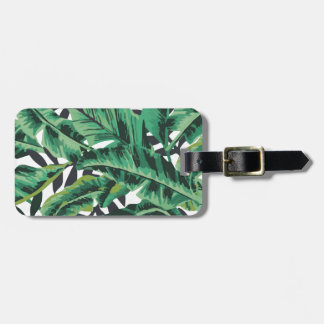 Tropical Glam Banana Leaf Pattern Bag Tags