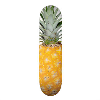 Tropical pineapple skate board deck