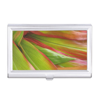 Tropical Ti Leaves Business Card Holder