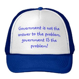 Trucker hat with political slogan