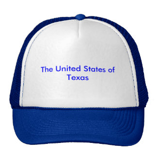 """Trucker's hat with """"United States of Texas"""""""