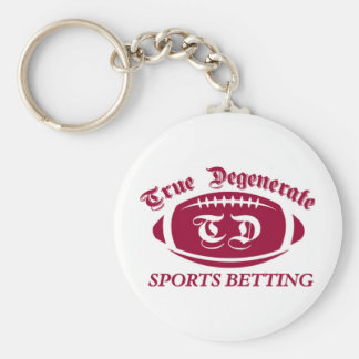 True Degenerate Sports Betting Basic Round Button Key Ring