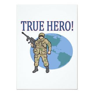 True Hero 13 Cm X 18 Cm Invitation Card