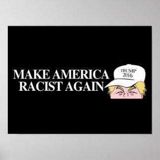 Trump Hat - Make America Racist Again - - .png Poster