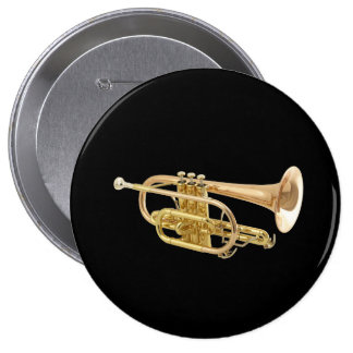 """""""Trumpet"""" design gifts and products 10 Cm Round Badge"""