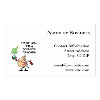 Trust Me... I'm a Science Teacher Pack Of Standard Business Cards