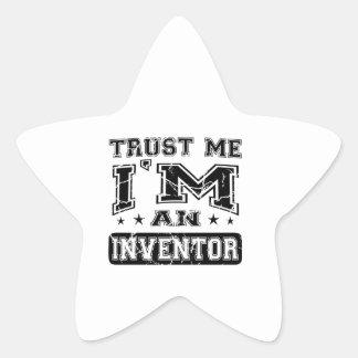 Trust Me I'M An Inventor Star Sticker