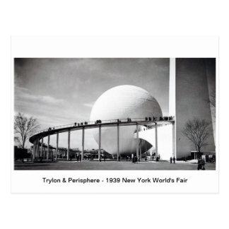 Trylon & Perisphere - 1939 New York World's Fair P Postcard