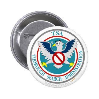 TSA Funny Logo with Cartoon Eagle 6 Cm Round Badge