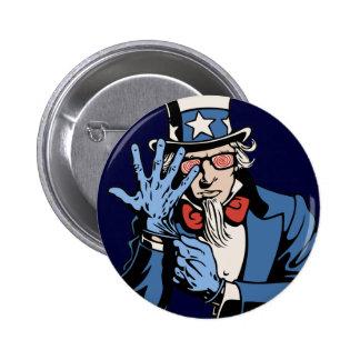 TSA- Uncle Sam 6 Cm Round Badge