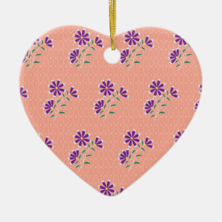 Tula Floral Batik Heart Ornament