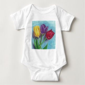 Tulips Yellow Red Violet Art Print T-shirt
