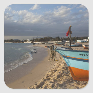 Tunisia, Cap Bon, Hammamet, waterfront, Square Sticker