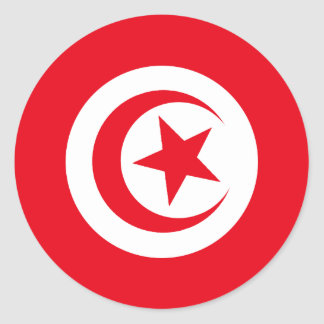 Tunisian Flag Round Sticker