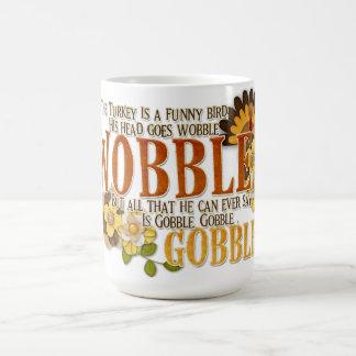 Turkey Gobble Basic White Mug