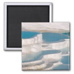 Turkey, Pamukkale Cotton Castle). Square Magnet