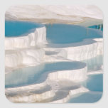 Turkey, Pamukkale Cotton Castle). Square Sticker