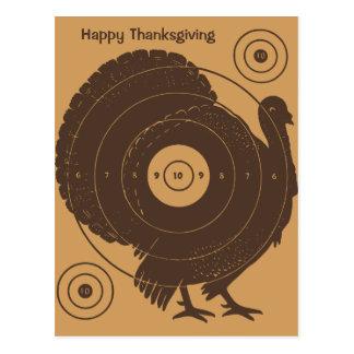Turkey Target Thanksgiving Postcard