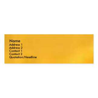 Turmeric Golden Yellow Pack Of Skinny Business Cards