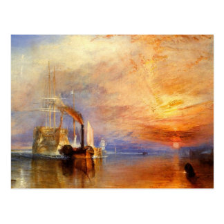 turner, j m w - the fighting téméraire tugged to h postcard