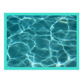 Turquoise  Border Swimming Pool Postcard