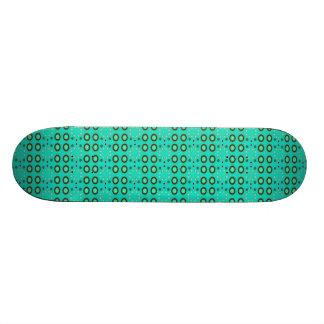 turquoise circle pattern skate board