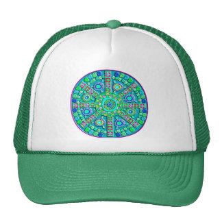 Turquoise Mandala Cap