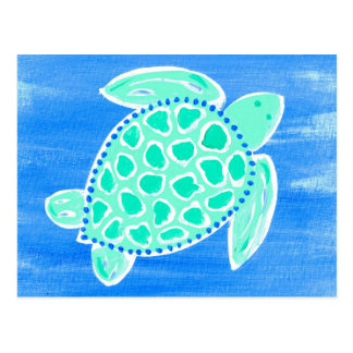 Turquoise Sea Turtle Postcard