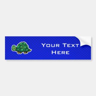 Turtle; Blue Bumper Sticker