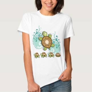 TURTLE Hurry Up Green Tshirts